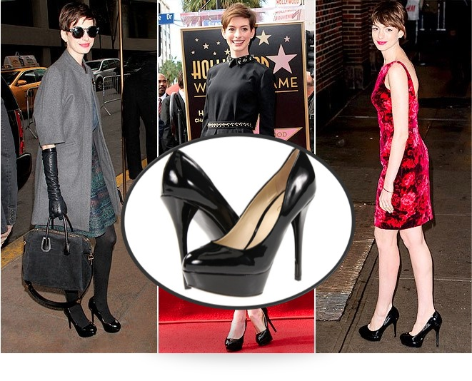 Anne Hathaway in ALDO Fronime Pumps