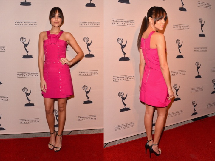 Ashley Madekwe in Versace and Saint Laurent